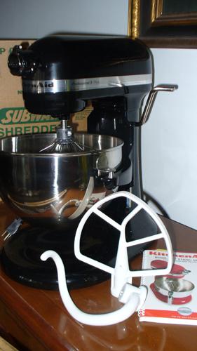 The Kitchenaid mixer I won